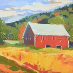 Barn near Woodstock, Vermont by Susan Zimmerman