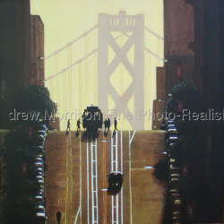 Cable Car (not for sale) by Andrew J. Morrison Fine Paintings