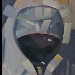 Wine Glass #2 by Reid Thorpe Fine Art And Illustration
