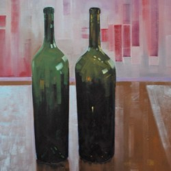 Two Bottles by Reid Thorpe Fine Art And Illustration
