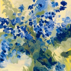 Blue Butterfly Delphiniums by Lynn Hennessy Fine Art