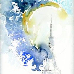 The Tour Eiffel by Atolstoyart.com