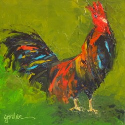 Rooster #1 by Linda Yoder Art