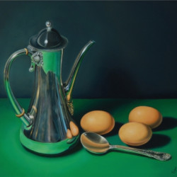TEAPOT AND EGGS by Sandy Lee Fine Art