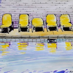 Poolside Loungers by Alita Vanvliet
