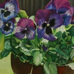 Purple Pansies by Art By Brittany Kolbe