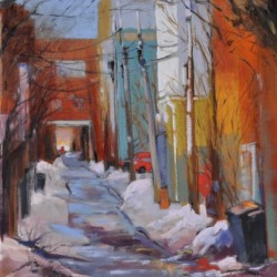 Montreal Back Alley by Louise Savoie