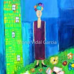 ALL DRESSED UP AND NO PLACE TO GO. COVID-19 by Gloria Vidal Garcia
