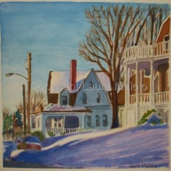 Snow at Circle Avenue by Laura Maiolo