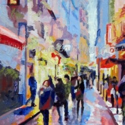 Paris Latin Quarter by Donna Brumbergs Fine Artist