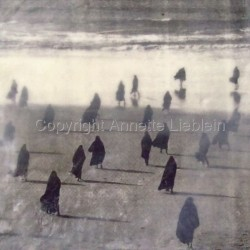 Burkas on the Beach by Annette Delucia Lieblein