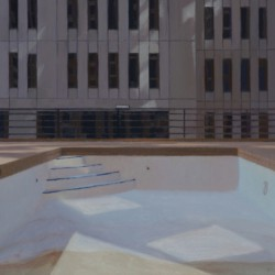Poolscape 5 (Minneapolis rooftop) by Kristie Bretzke