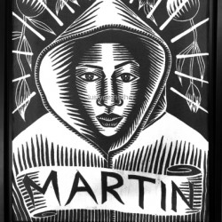 Trayvon Martin by Justyne Fischer: Social Justice Printmaker