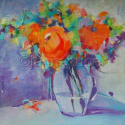Bouquet With Orange Flowers by Janna Zuber