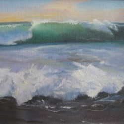 Large Wave (#100) by Kathleen Kriegman