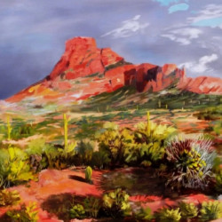 RED MOUNTAIN by Pat Serie Art