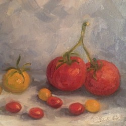 Tomatoes by Cindy Ruenes Fine Art