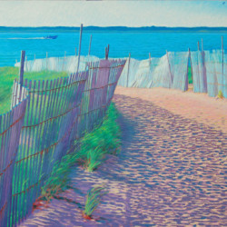 Late Afternoon Fences by Rob Brooks