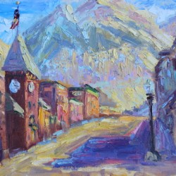 Sun On Colorado Ave, Telluride, CO by Terry Ouimet Fine Art