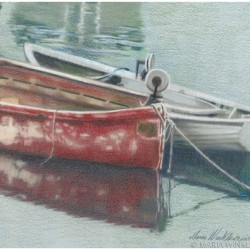 The Old Red Boat by Maria Winkler