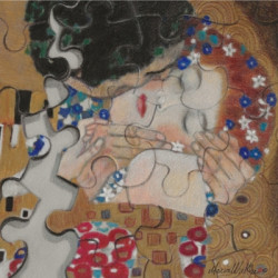 The Kiss (After Klimt) by Maria Winkler