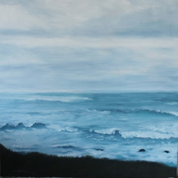 Ocean at Dusk by Marylou Molinaro Fine Art