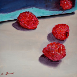 Red Raspberries by Lisa David
