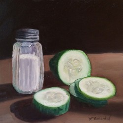 Salty Cucumbers by Lisa  David: Classic, Rustic, Vintage. Painting The Adirondacks And New York.