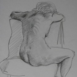 Seated Nude by Alison Chambers Rbsa