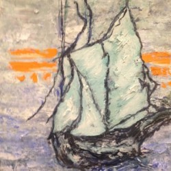 Sails On the Sunset by Www.artistlesliecom
